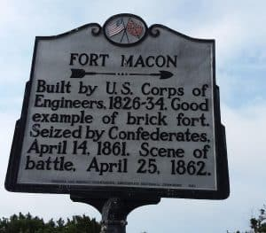 fort macon sign