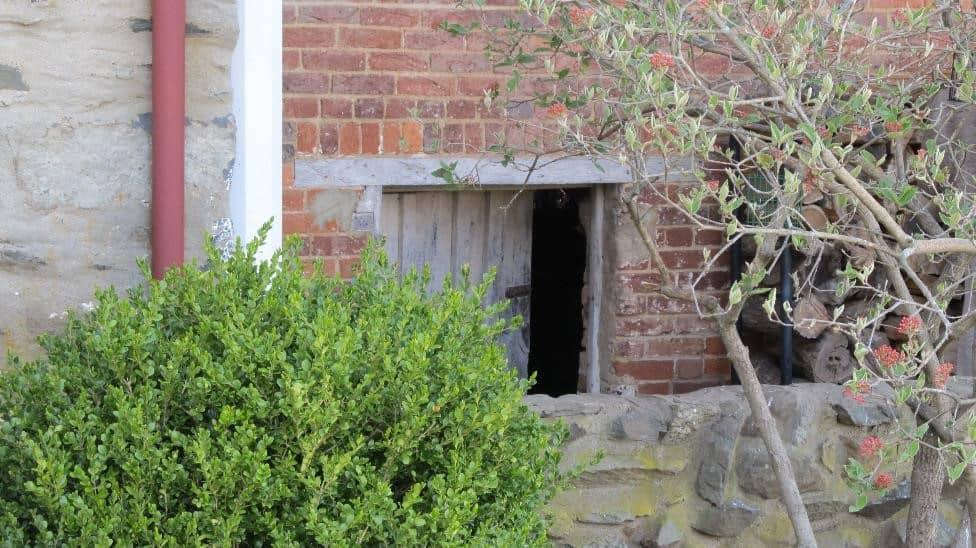 hidey hole door at Belle Grove