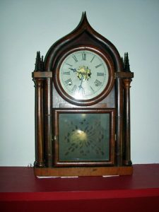 Clock on the mantel where Stonewall Jackson died.