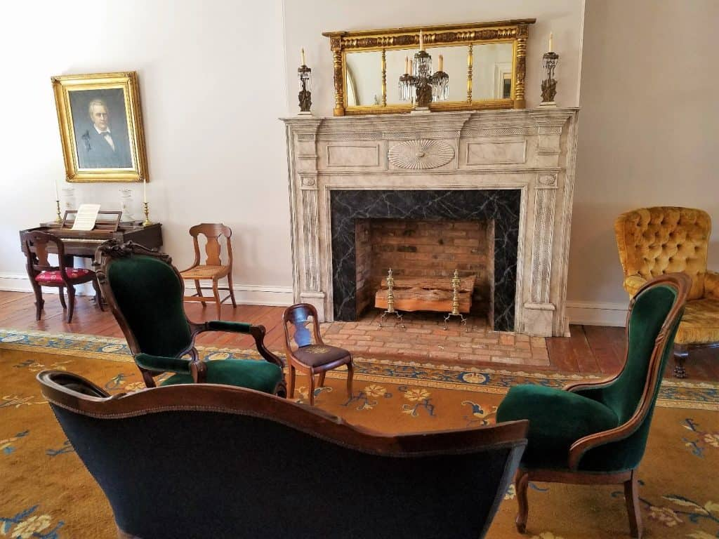 parlor at the dickson williams house